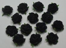 MIDNIGHT BLUE (black) Mulberry Paper Roses (only flower head)